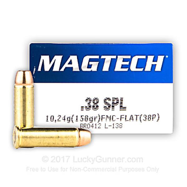 Magtech .38 spécial FMJ-FLAT 158 grs