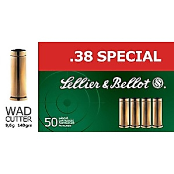 Sellier Bellot .38 spécial Wad Cutter 148 grs