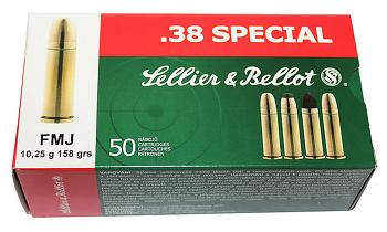 Sellier bellot .38 spécial FMJ 158 grs