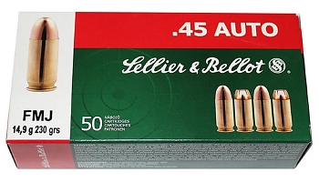 Sellier bellot .45 Auto ACP FMJ 230 grs
