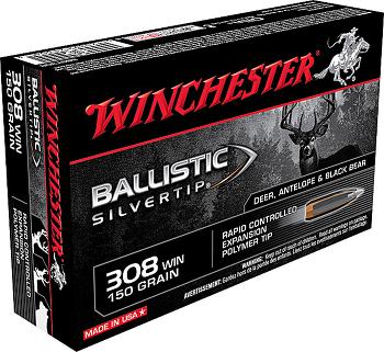 Winchester Ballistic Silvertip 308 win 150 grs