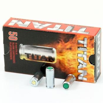 Titan 9 mm PA à blanc (x50)
