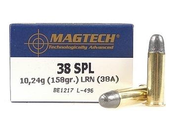 Magtech .38 spécial LRN 158 grs