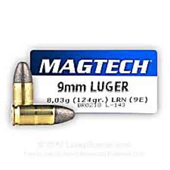 Magtech 9 mm LRN 124 grs
