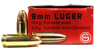 Geco 9 mm Luger FMJ 124 grs
