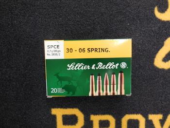Sellier Bellot SPCE 30-06 sprg 180 grs