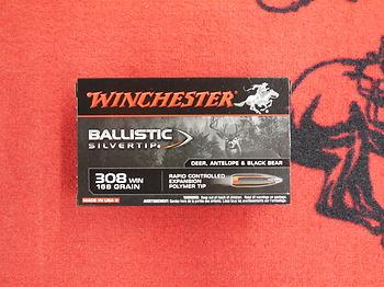 Winchester Ballistic Silvertip 308 win 168 grs