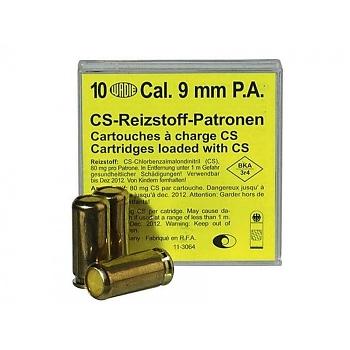 Cartouches gaz CS pour PA 9 mm à blanc