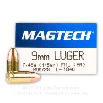 Magtech 9 mm FMJ 115 grs