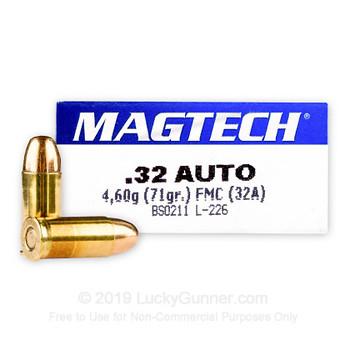 Magtech .32 Auto FMJ 71 grs (x50)