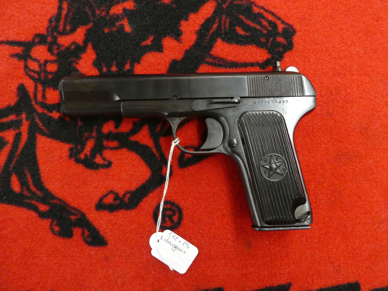 Pistolets 7,62x25 Tokarev