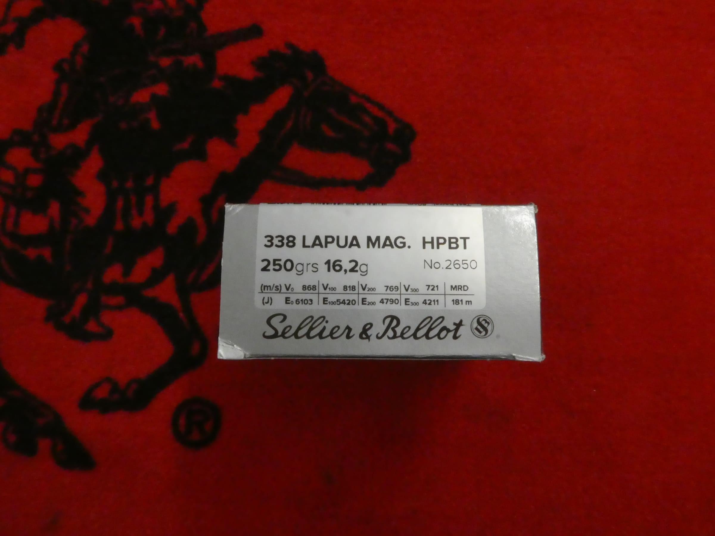 Balles 338 Lapua Magnum